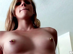 Young blonde is down to fuck in your hotel room