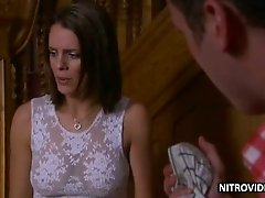 Super Sexy Susie Amy Wears a Hot See-Through Dress In a Movie Scene