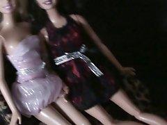 Cumming on two dolls