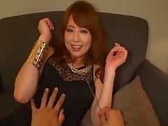 Ponytailed and saucy Japanese slut does reject pleasuring two cocks in this compilation