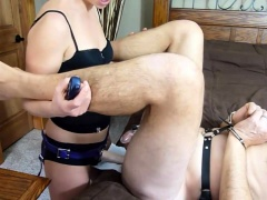 Kinky guy has a dominant blonde punishing his anal hole