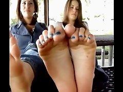 two girls feet