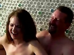 A jacuzzi is the playground of these amateur swinger couples