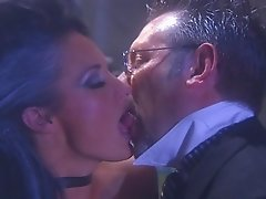 Babe in the lab getting fingered and fucked after giving handjob