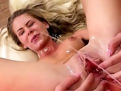 Filthy blonde DRENCHED in golden pee - Piss Fuck