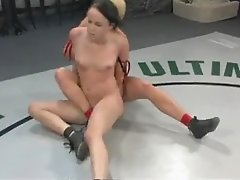 Hot Strapon Action With Lesbian Babes In The Ring