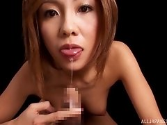 Japanese MILF is a born cock sucker who loves sloppy blowjobs