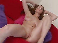 Hot Girl with Glasses Masturbating