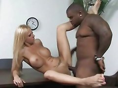 Brooke Tyler goes black by a huge cocked black guy