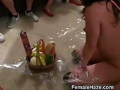 College Girls On Leashes Get Oral At Hazing Party