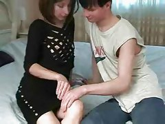 Hot French Mum Lets Son Have His Way
